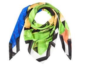 Shizuka 006/Courage green, silk scarf by karlssonwilker