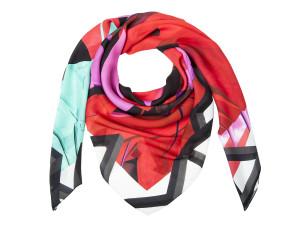 Shizuka 005/Courage red, silk scarf