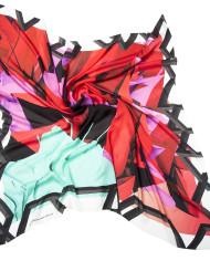 Shizuka Courage red, silk scarf