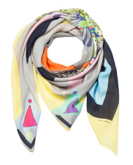SAGA KAKALA, silk scarf Bird by Helga Bjornsson / wrap_