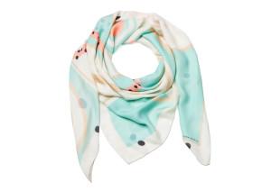 SAGA KAKALA, silk scarf Pastel by Helga Bjornsson /wrap_