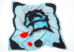 SAGA KAKALA, silk scarf  Prim by Helga Bjornsson