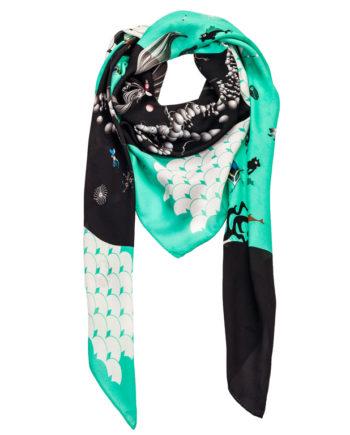 Saga Kakala silk chiffon scarf