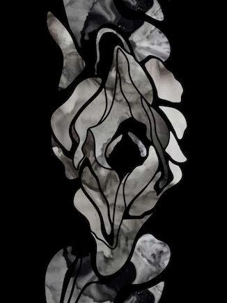 GAIA Black Orchid by Gulla Jonsdottir