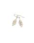 Bone earrings, color white