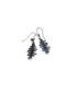 Bone earrings, color black